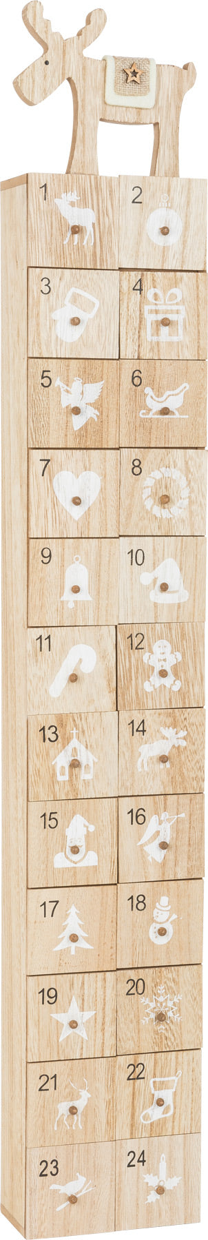Wooden Modern Advent Calendar