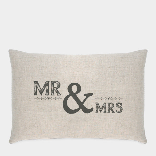 East of India - Long Cushion - Mr and Mrs