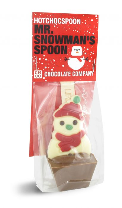 Mr Snowman's Chocolate Spoon 50g