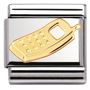 Nomination Classic Gold Charm - Mobile Phone