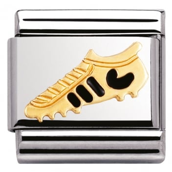 Nomination Classic Gold Charm - Black Football Boot