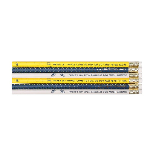 Disney Winnie The Pooh Happy Set of 6 Pencils