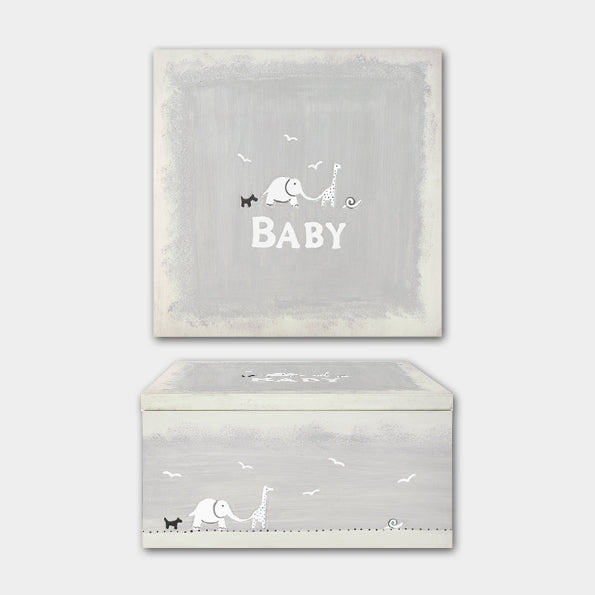 East of India Large Keepsake Box - Baby