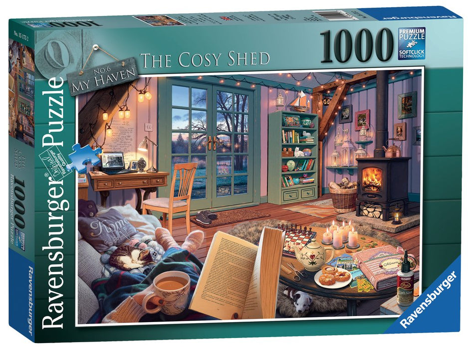 Ravensburger My Haven No.6, The Cosy Shed, 1000pc Jigsaw Puzzle