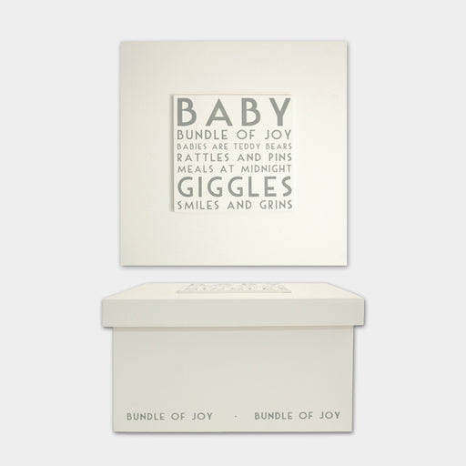 East of India Baby White Keepsake Box