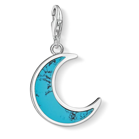 Thomas Sabo Turquoise Crescent Moon Charm
