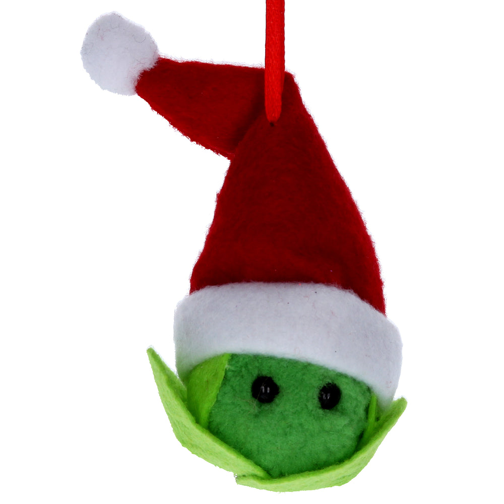 Gisela Graham Felt Sprout with Santa Hat Decoration