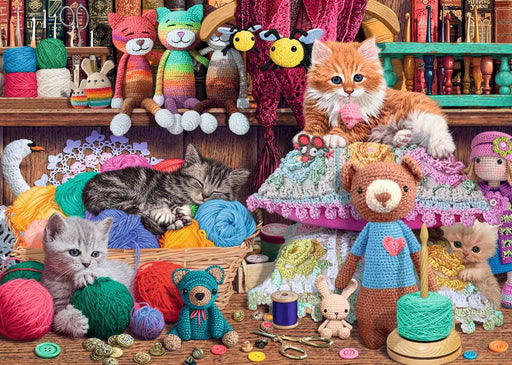 Ravensburger Knitty Kitty! 1000 Piece Jigsaw Puzzle