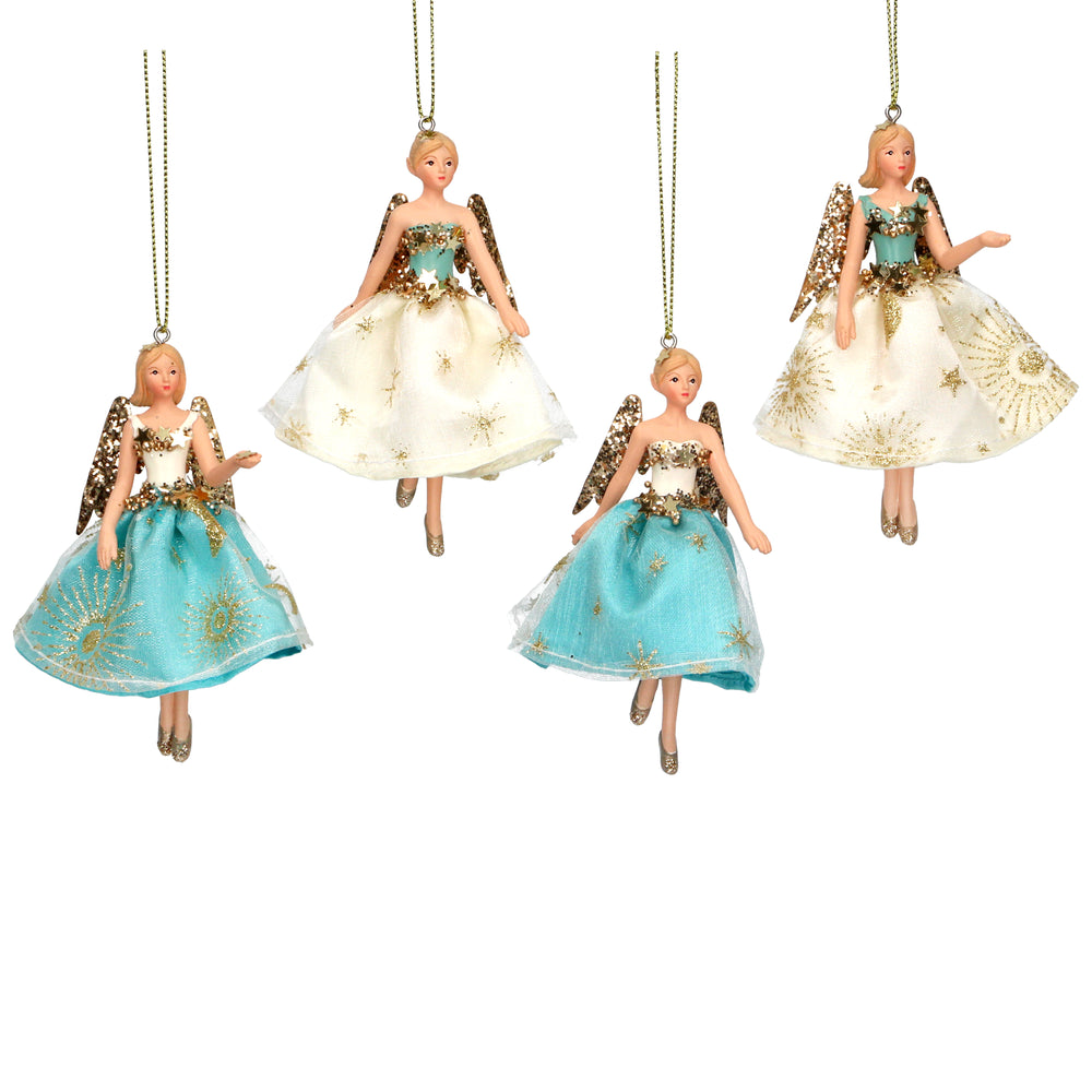 Gisela Graham Resin Fairy Tree Decorations