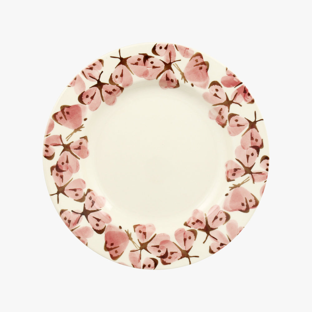 Emma Bridgewater Pink Cabbage White Butterfly 8 1/2 Inch Plate