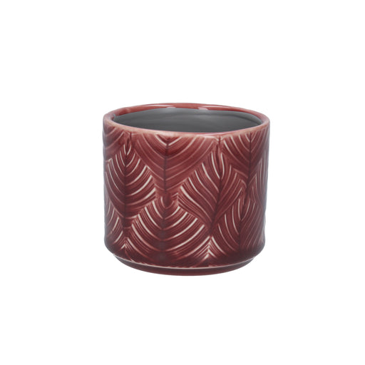 Gisela Graham Berry Leaf Ceramic Mini Pot