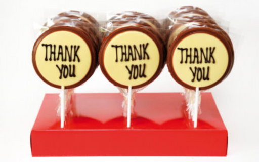 Chocolate 'Thank You' Lollipop