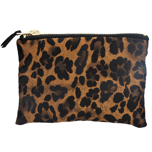 Gisela Graham Copper Leopard Jacquard Purse