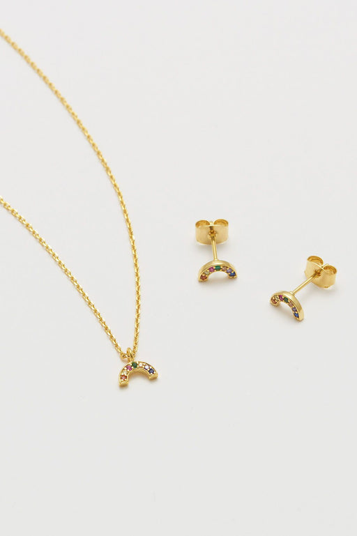 Estella Bartlett Gold Plated Rainbow Necklace