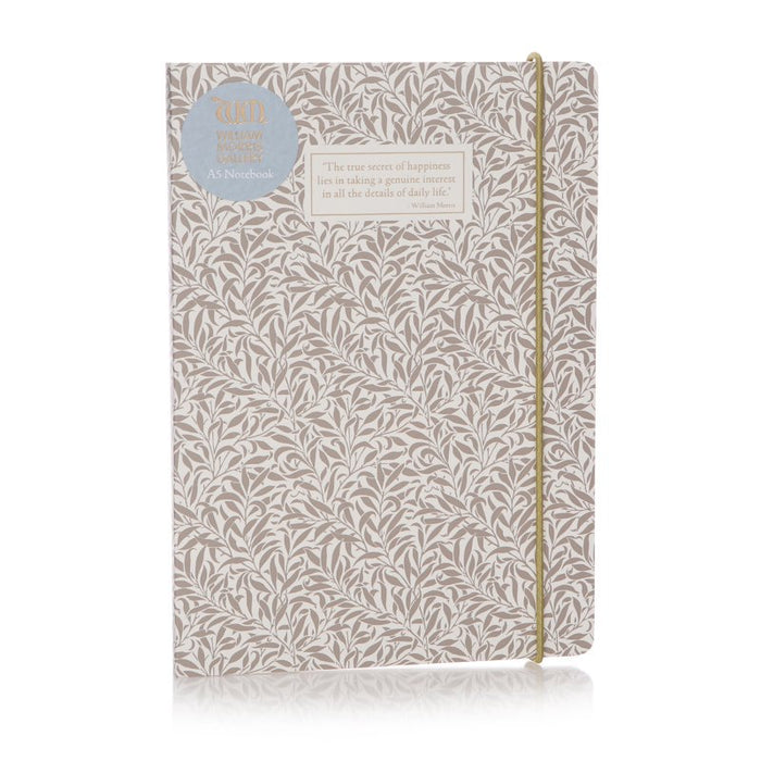 William Morris Willow Grey A5 Notebook