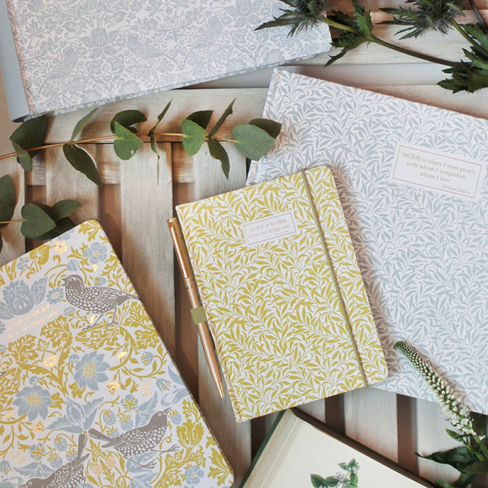 William Morris Willow Yellow A6 Notebook with Pen