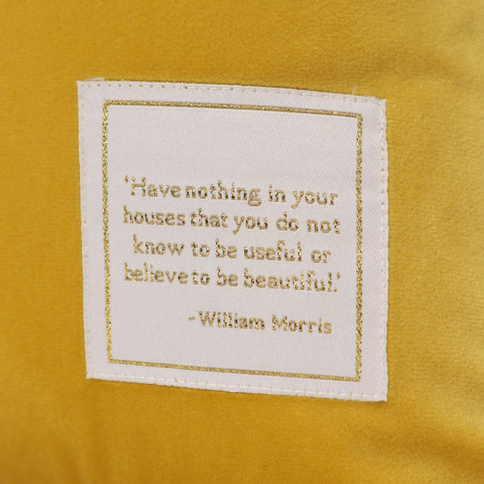 William Morris Willow Yellow Cushion