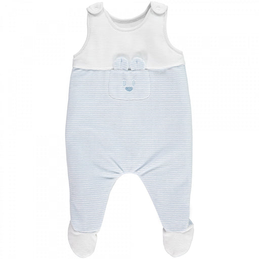 Emile et Rose Niall - Boys Stripe Dungaree and Wrist Rattle Set