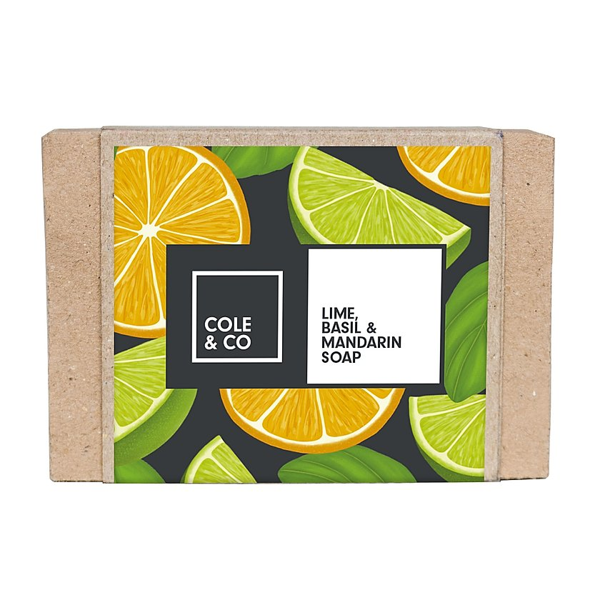 Cole & Co Soap Lime, Mandarin & Basil Soap