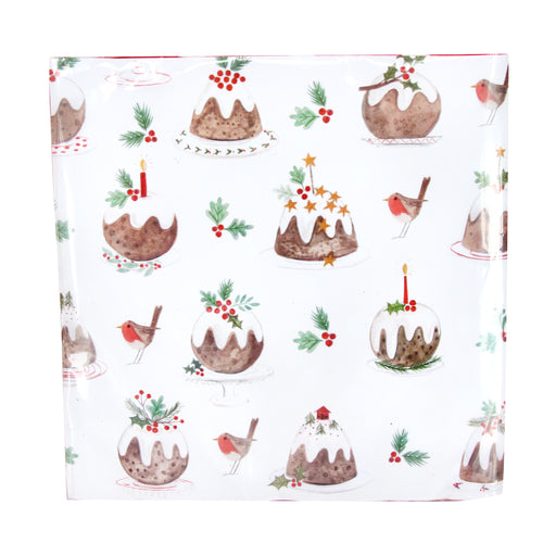Gisela Graham Set of 20 Plum Pudding Paper Napkins