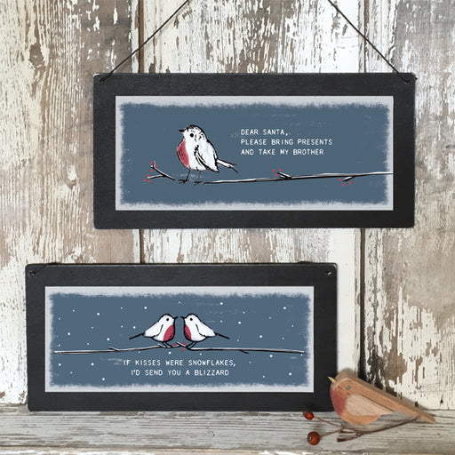 East of India - Christmas Sign - If Kisses Were Snowflakes