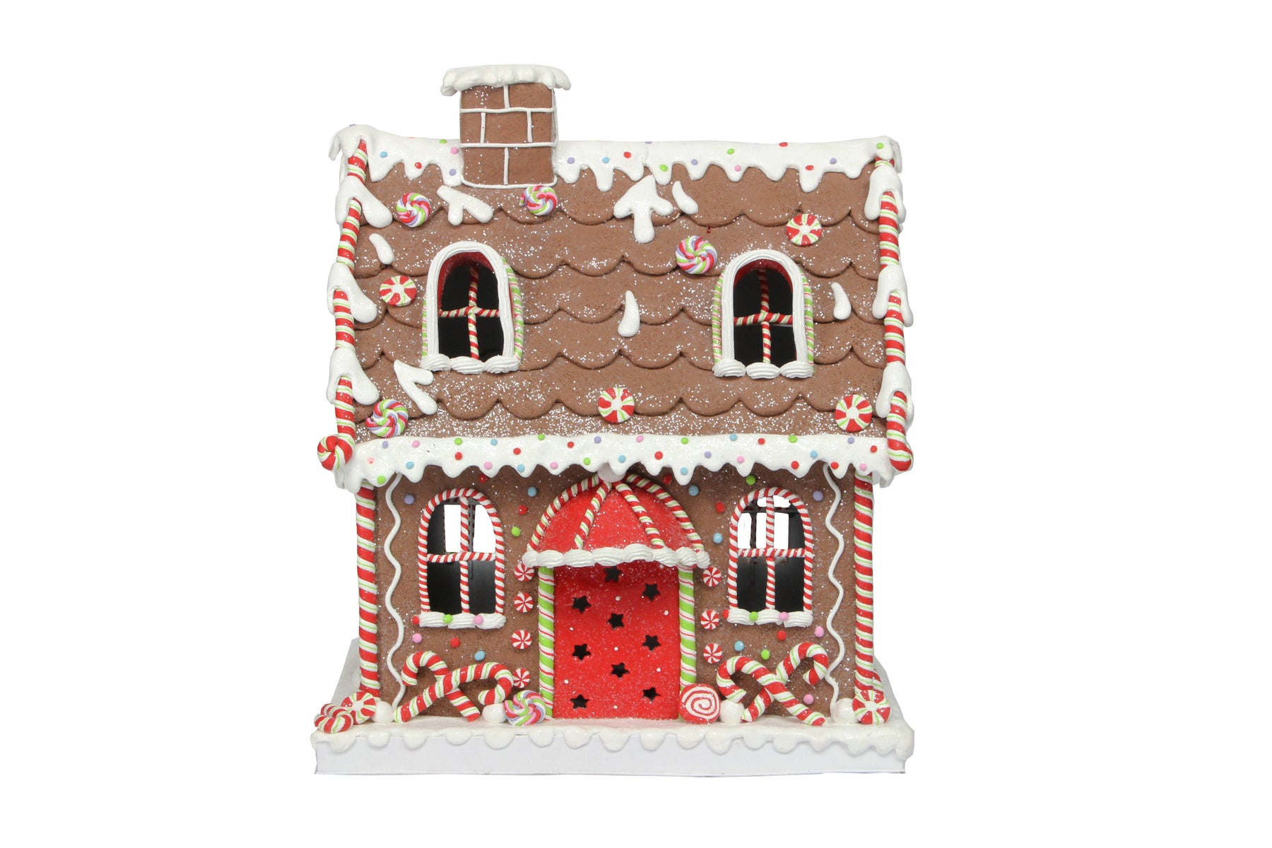 Gisela Graham Large Resin Light Up Gingerbread House Ornament