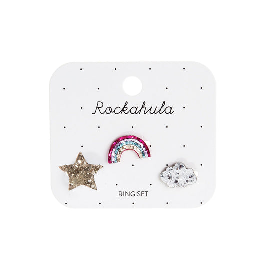 Rockahula Rainbow Star Ring Set