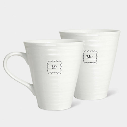 East of India Mr & Mrs Mug Set