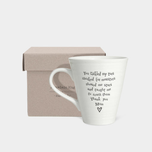 East of India Porcelain Mug-You Tickled My Toes