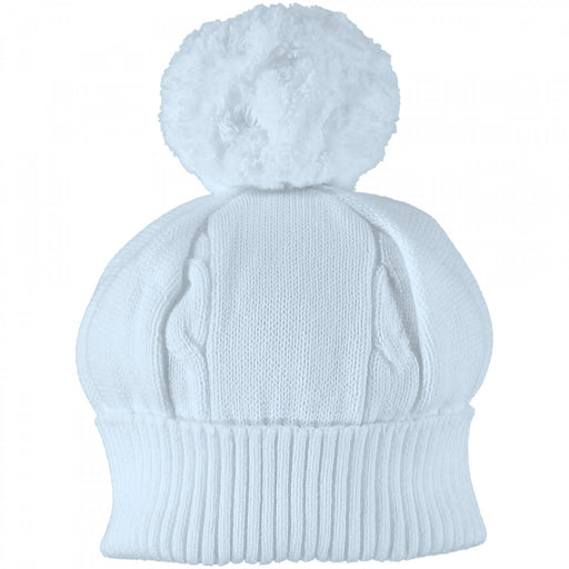 Emile et Rose Fuzzy Bobble Hat - Blue