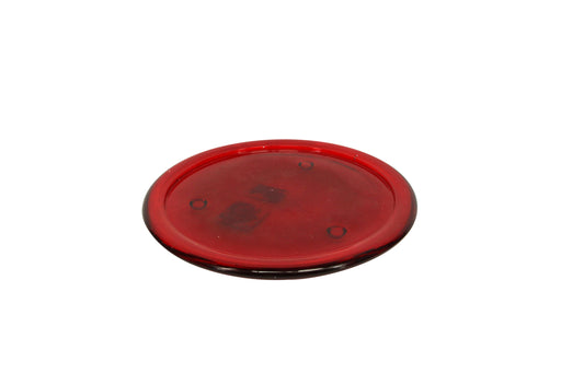 Gisela Graham Large Clear Red Glass Candle Dish