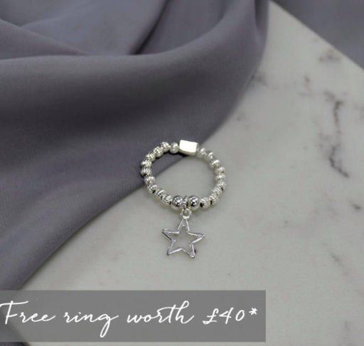 Chlobo Silver Star Ring - FREE WHEN YOU SPEND £65 ON CHLOBO