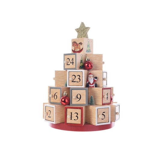 Wooden Christmas Pyramid Advent Calendar