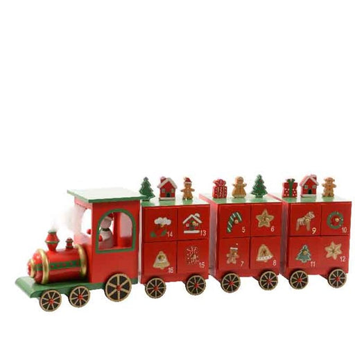 Wooden Christmas Train Advent Calendar
