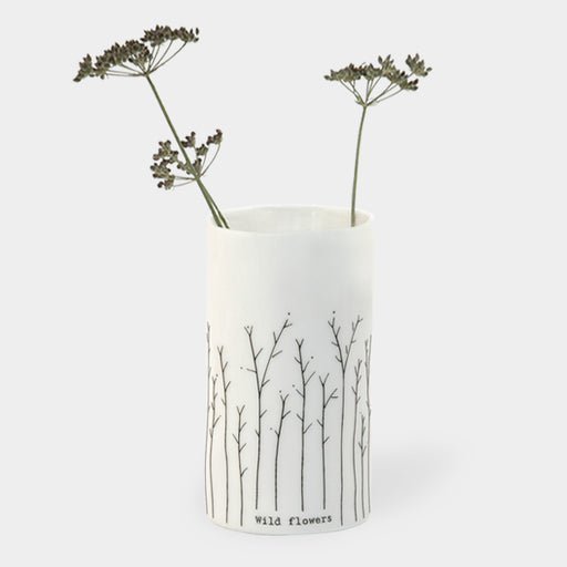 East of India Porcelain Vase-Wild Flowers
