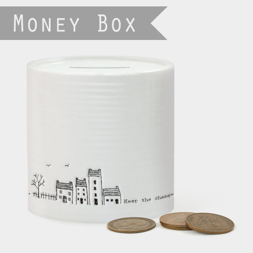 East of India Porcelain money box-Keep the change