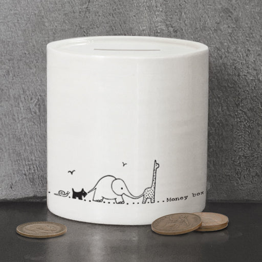 East of India Porcelain money box-Nursery animals
