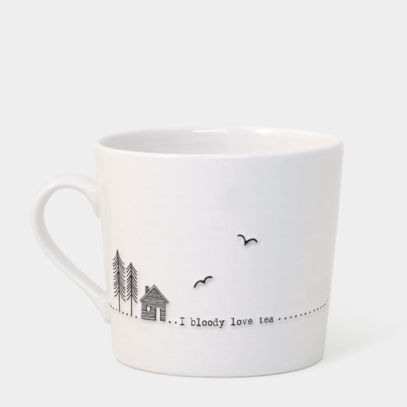East of India Wobbly Mug - Bloody Love Tea