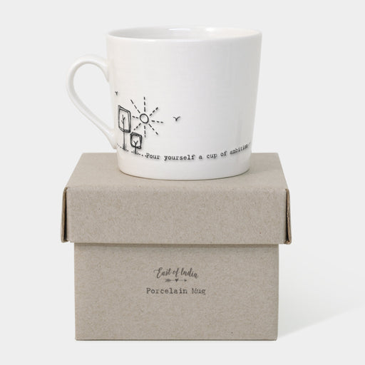 East of India Wobbly Mug - Cup of Ambition