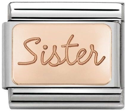 Nomination Classic Charm - Rose Gold Sister