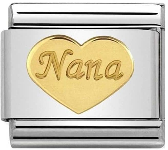 Nomination Classic Gold Charm - Nana Heart