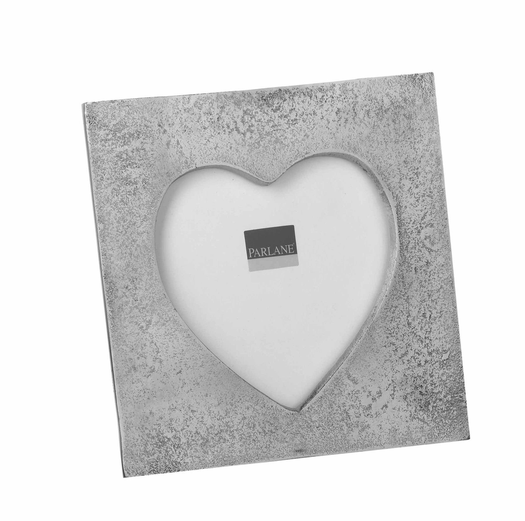 Silver Square Heart Photo Frame