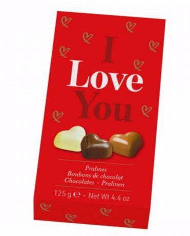 I Love You Box of Praline Hearts