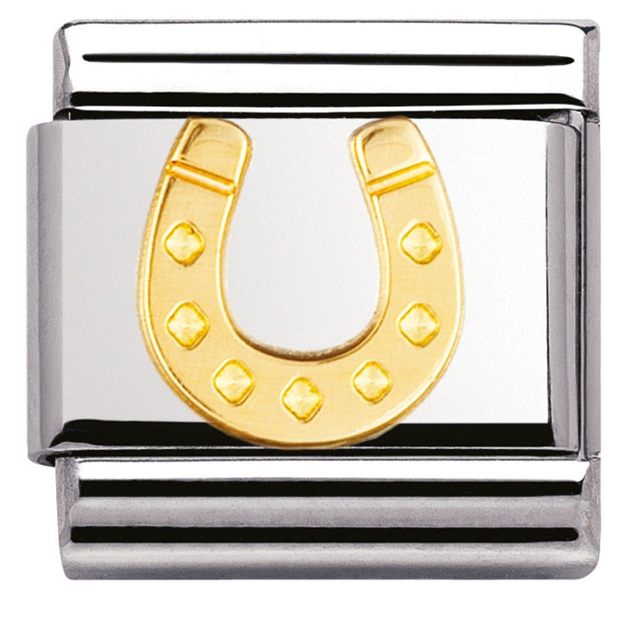 Nomination Classic Gold Charm - Danish Horseshoe