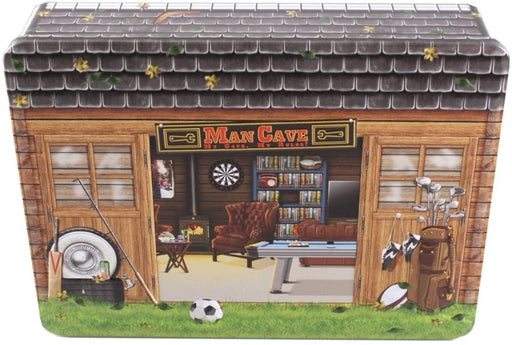 Embossed Man Cave Tin of Biscuits - Dated 30/06/2020