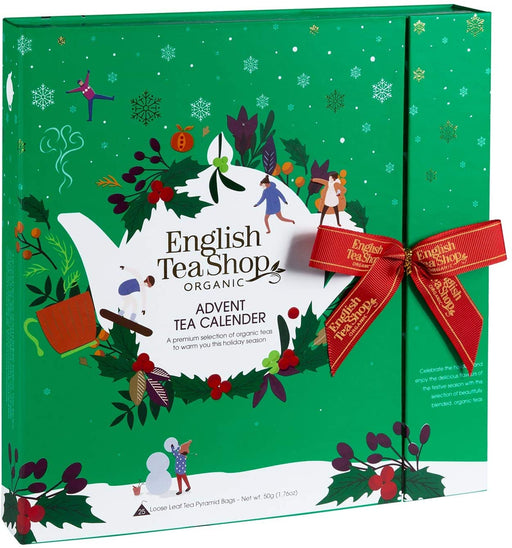 English Tea Shop Book Style Green Advent Calendar