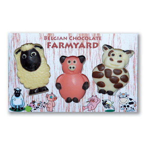 Chocolate Trio of Farmyard Animals