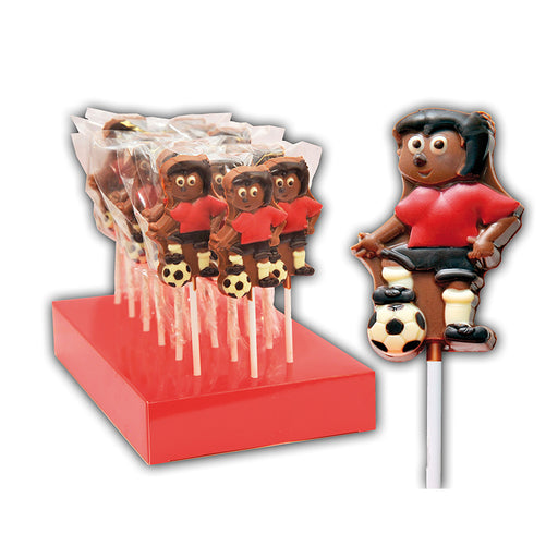 Chocolate Footballer Lollipop