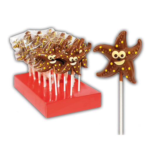 "Hand Decorated Chocolate Lollipops ""Starfish"""