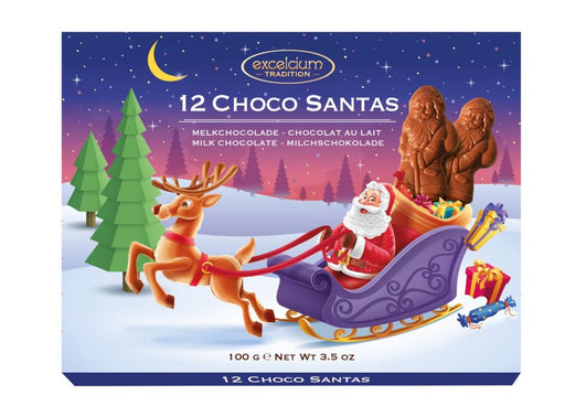 Pack of 12 Milk Chocolate Santas